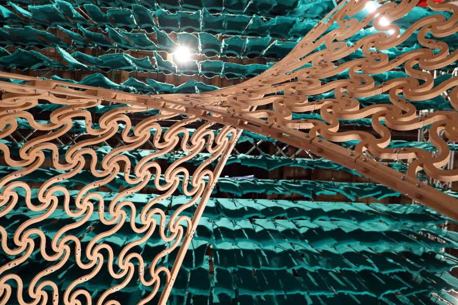 Padiglione in legno tagliato a cnc - Multistrato okumè